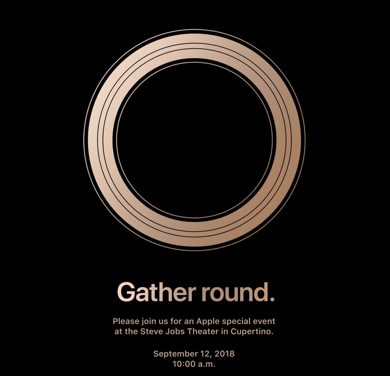 iPhone event invite 2018