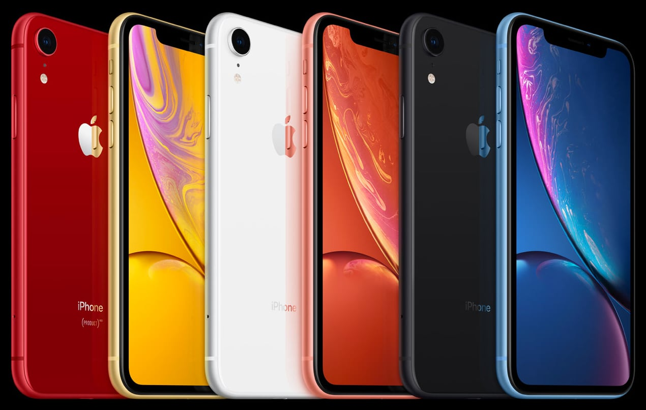 Apple iPhone XR colour options