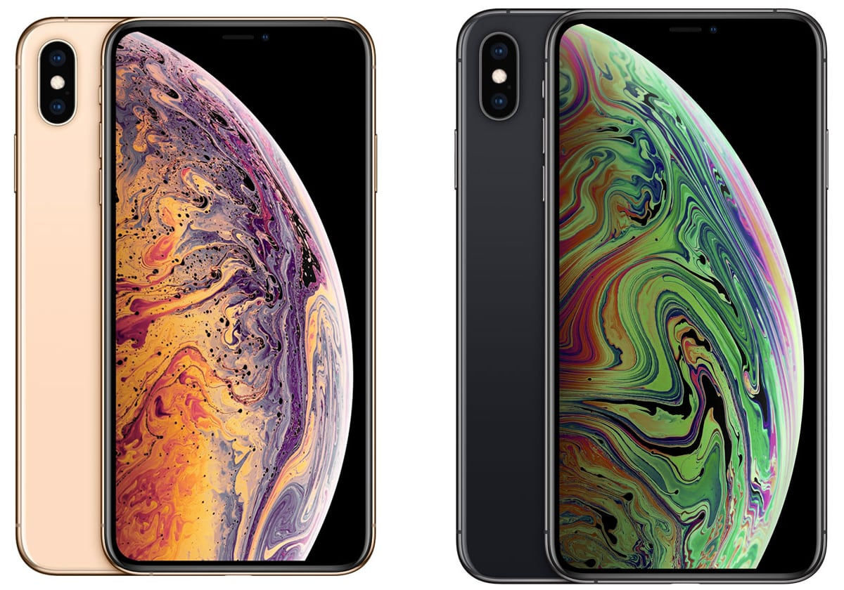 Apple iPhone Xs Max in gold & space grey
