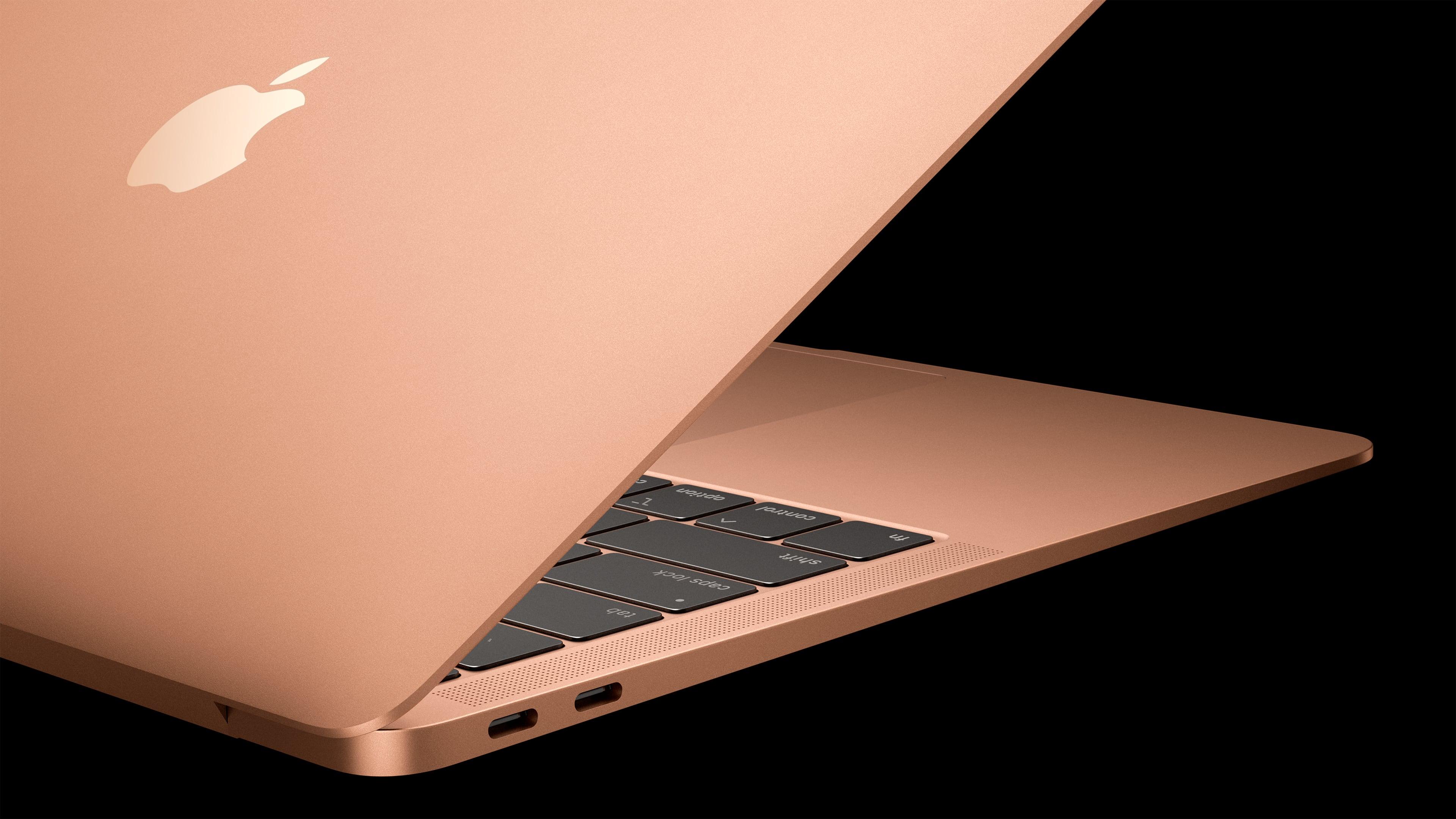 MacBook Air keyboard and ports