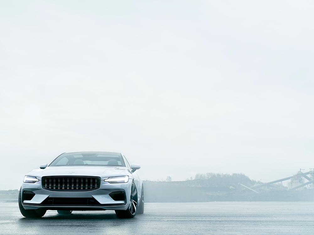Polestar 1 in the cold