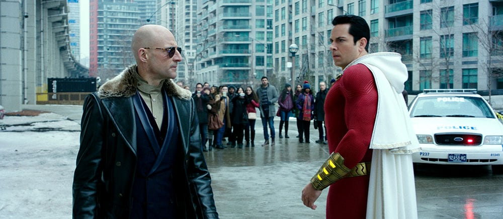 Mark Strong opposite Zachary Levi in Shazam!