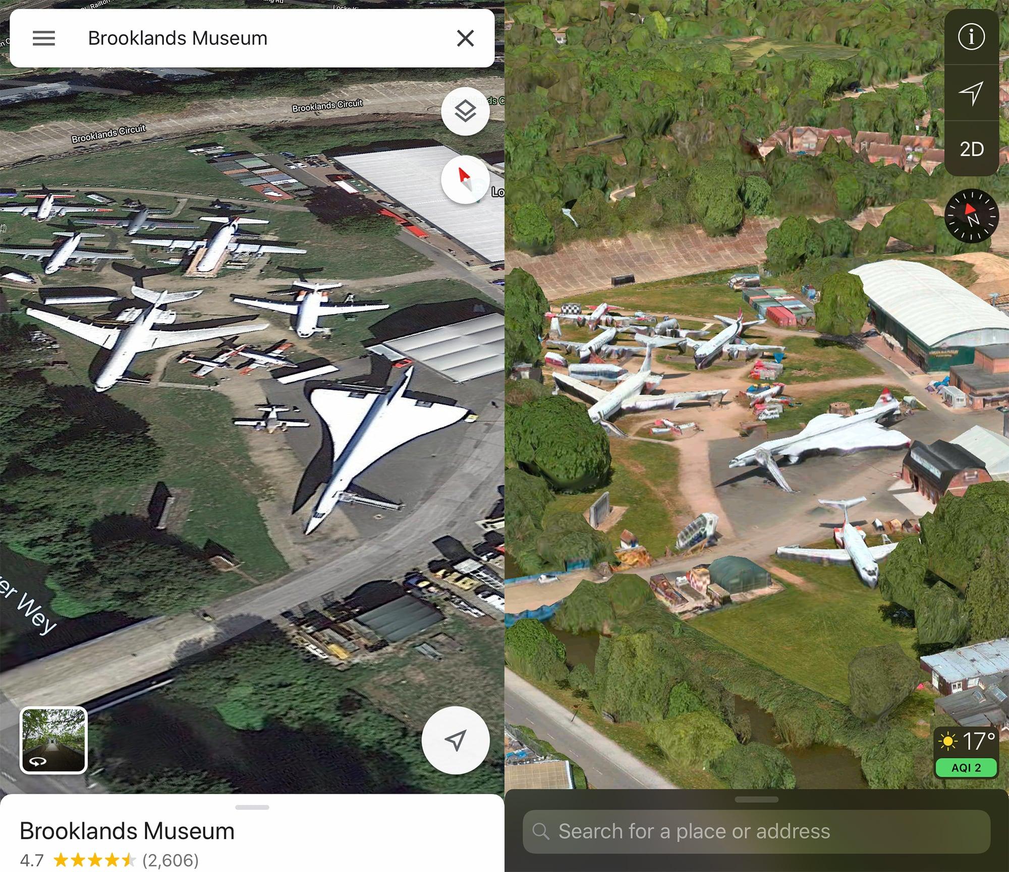 Google Maps vs Apple Maps