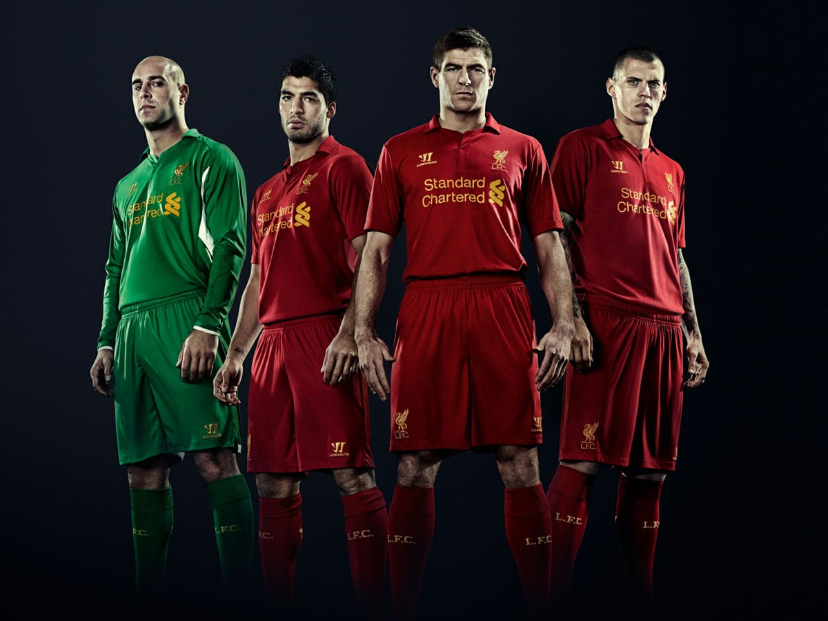 Liverpool FC home kit 2012/13
