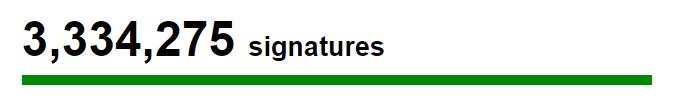 3million signatures
